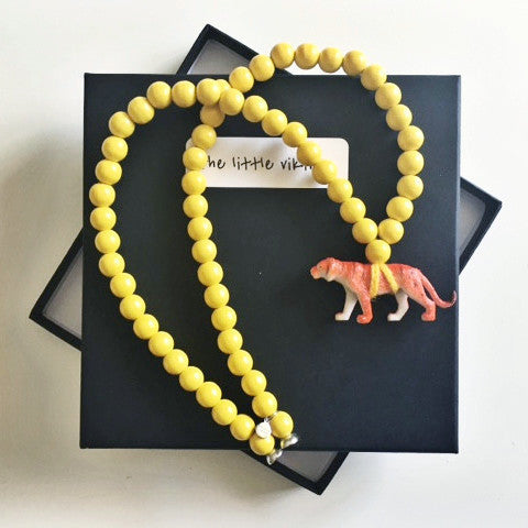 Pray4Trax Necklace Tiger Yellow