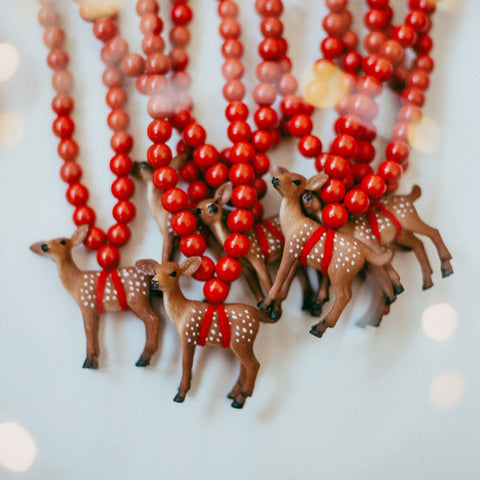 The Christmas Deer Necklace - More colour options.
