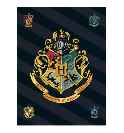 Harry Potter Coperta in Pile Plaid Hogwarts