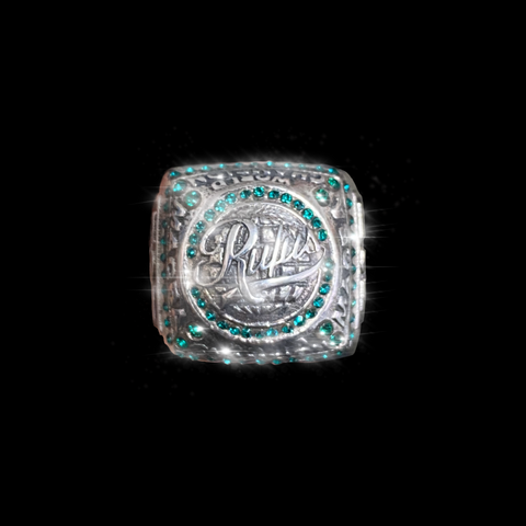 RUFUS - SUPERBOWL CHAMP RING - GREEN EMERALD
