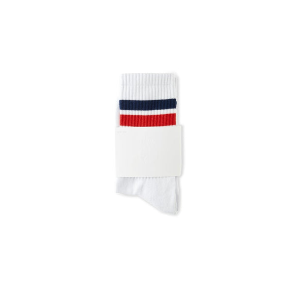 POLAR SKATE CO. - STRIPE SOCKS IN WHITE - RED - NAVY