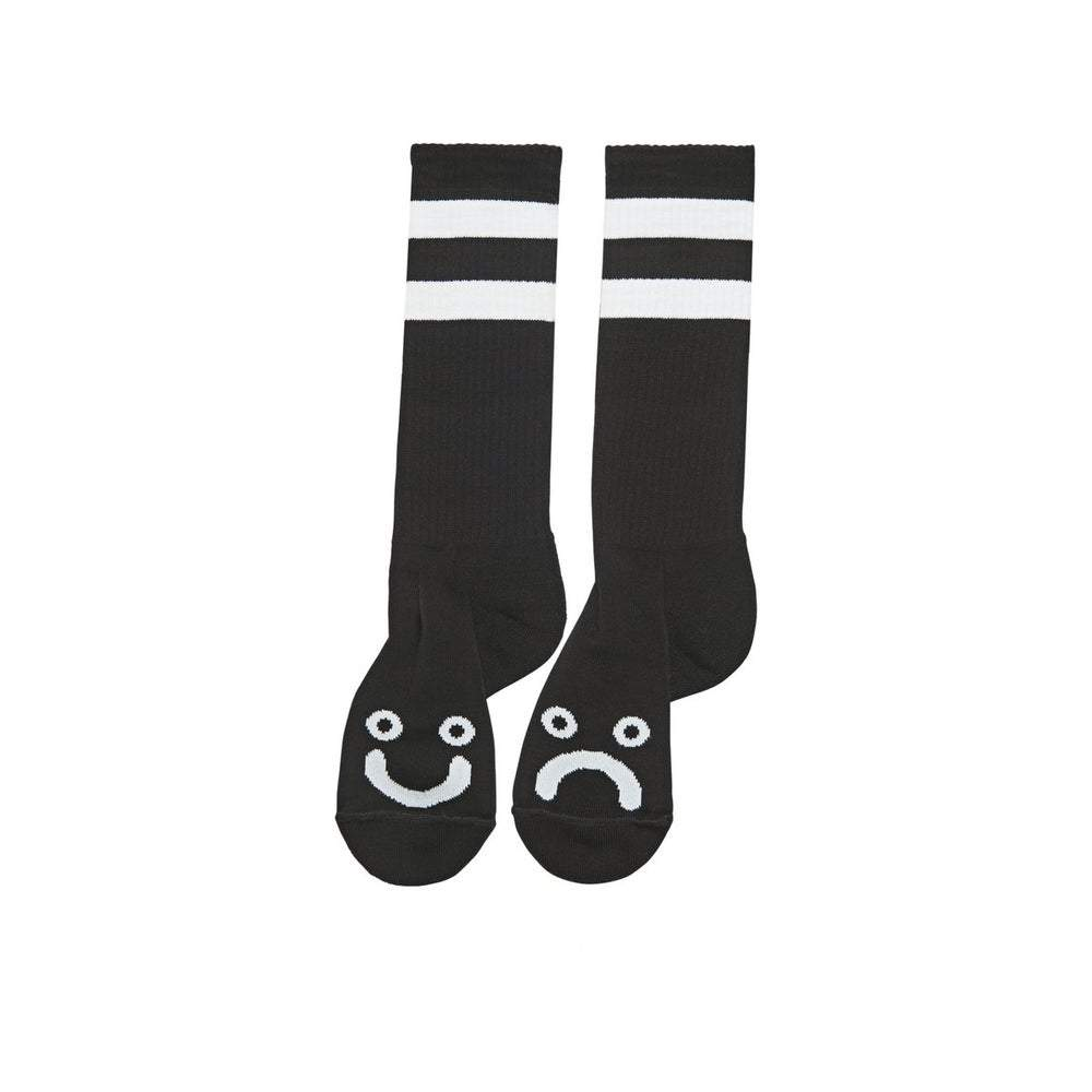 POLAR SKATE CO. - HAPPY SAD SOCKS BLACK