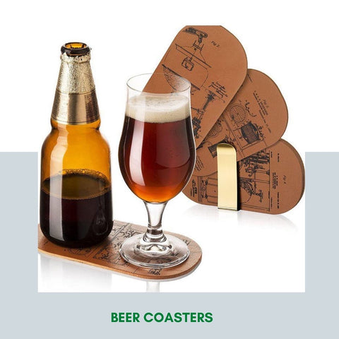 Double Coasters For Bottle and Glass- Set of 6