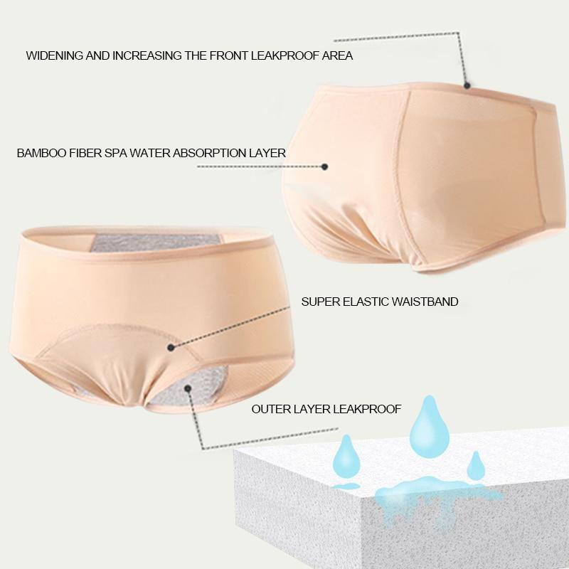 3pcs Leak Proof Lyra Period Cotton Panties