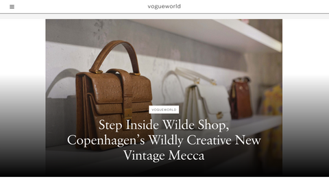 Vogue Magazine, New York City, vogue.com fashion press article, wildly creative, vintage mecca with The Wilde Shop in Copenhagen