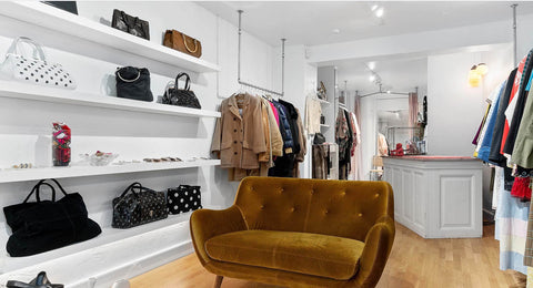 The Wilde Shop interiors. Preloved and luxury vintage goods, designer items and sweet vintage finds.
