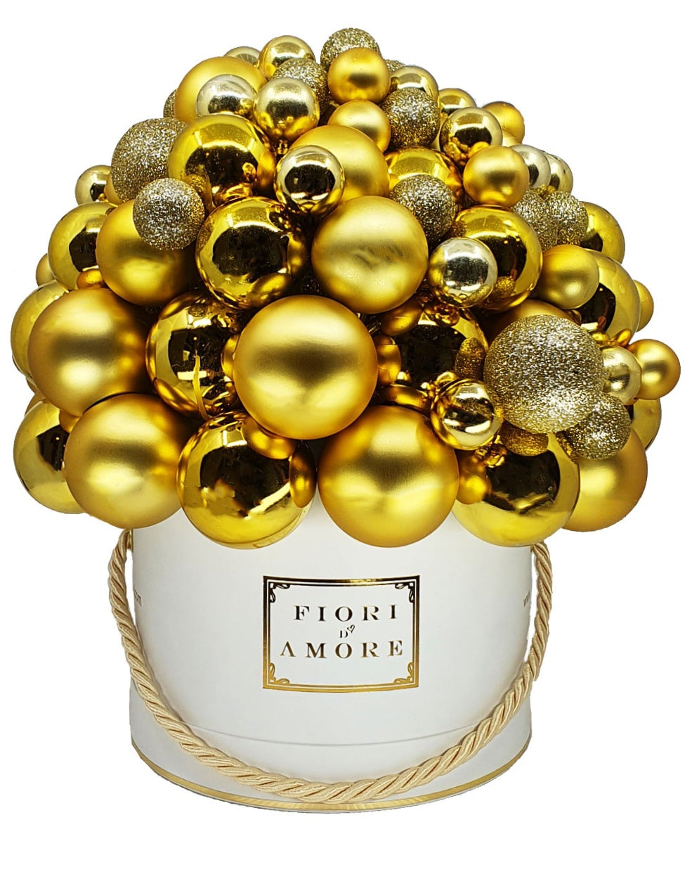 Gold baubles box