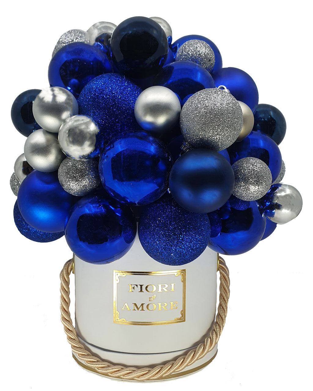 Winter blue baubles box