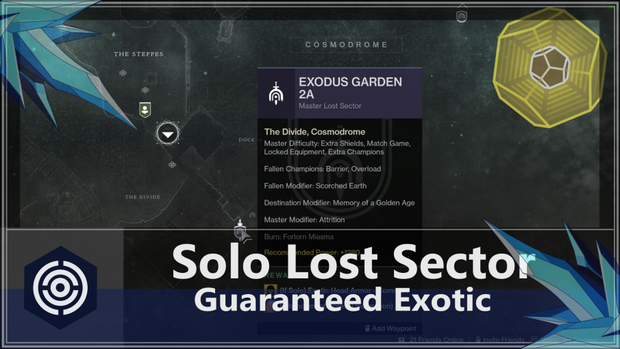 Solo Lost Sector: Guaranteed Exotics
