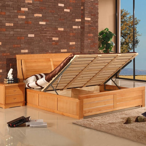 The bed with storage function.