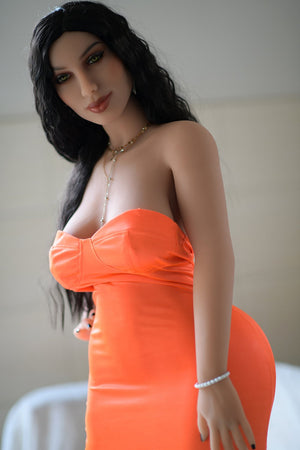 151cm middle chest latina bumpy orange tight skirt love doll – Harusy - tpesexdoll.com