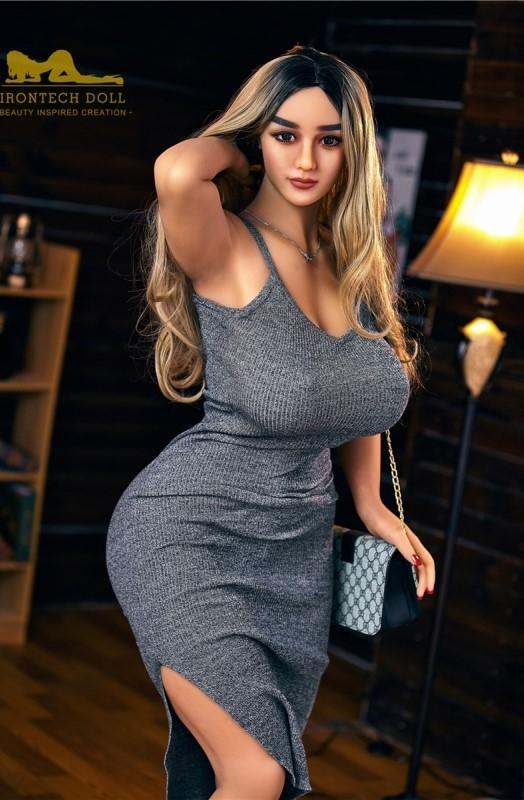 158cm blonde hair sexy curvy big breasts big ass sex doll Fiona - tpesexdoll.com