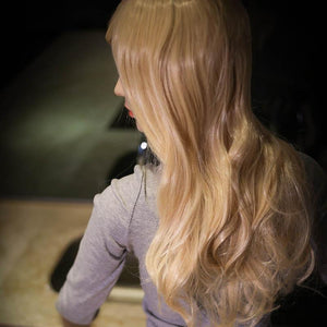 158cm G cup golden long hair big butt Realistic love doll---Zafaria - tpesexdoll.com