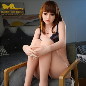 163cm Asian TPE Realistic Cute Small Breasts Sex Doll Amy - tpesexdoll.com