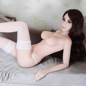 165 cm-Asian curvy big breasts white long hair sweet sex doll - tpesexdoll.com