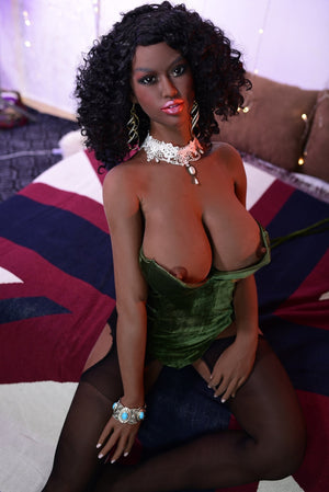 6YE 160cm E cup big breast hot black sex doll Bonita - tpesexdoll.com