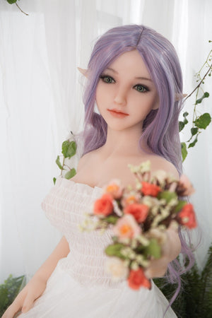 Sanhui 118cm mini long purple hair medium boobs sex doll-Zifu - lovedollshops.com