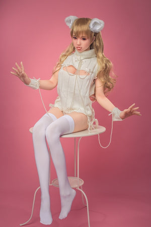 Sanhui 145cm lolita cosplay realistic beautiful blond hair sex doll-XiaoYou - tpesexdoll.com