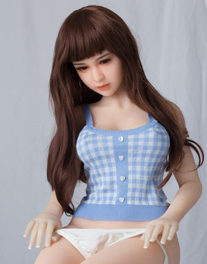 Sanhui TPE 156cm small breasts Asian face slim sex doll Beizi - tpesexdoll.com