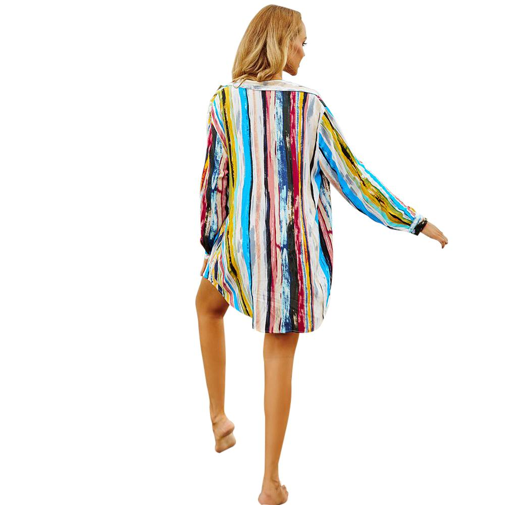 Juag Striped Cotton Cover Up