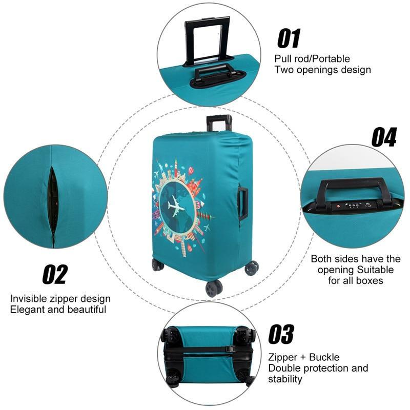 Globe Luggage Protective Cover