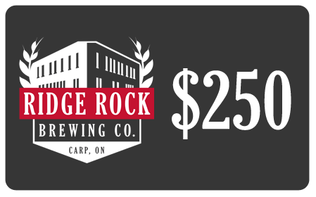 $250 Gift Card Ridge Rock Brewing Company