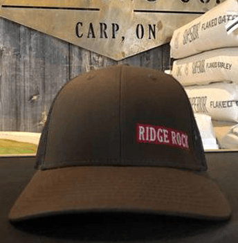 Grey and Red New Style Hat Ridge Rock Brewing Company