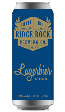 LAGERBIER [CAN 473ml] Ridge Rock Brewing Company
