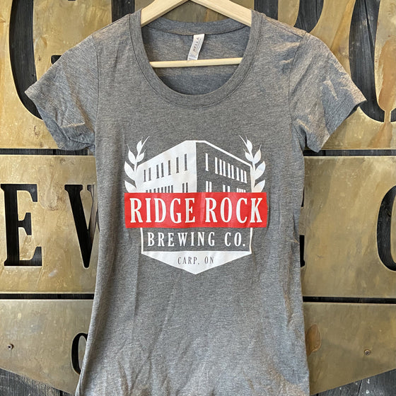 Women's Ridge Rock T-shirt Light Grey Ridge Rock Brewing Company