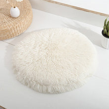 Load image into Gallery viewer, Round Pet Dog Bed Mat Long Plush Soft