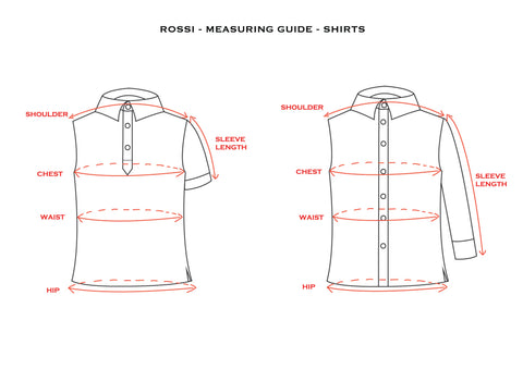 Measuring Guide - Shirt