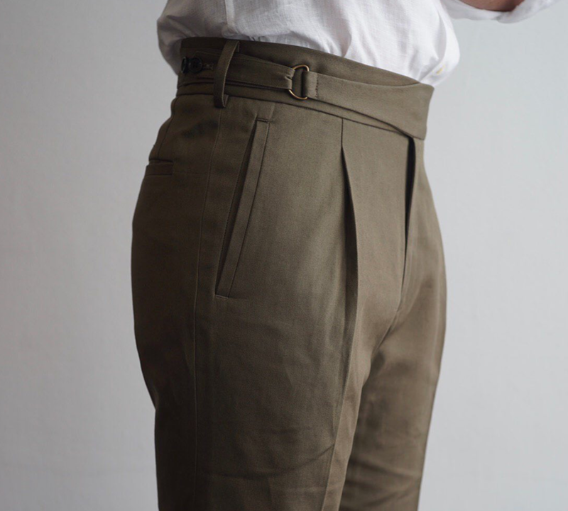 Tailored Chinos - D Ring Waistband [Made to Order]