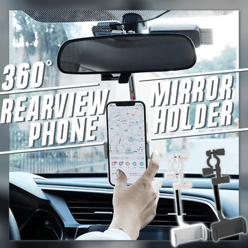 360° Rearview Mirror Phone Holder