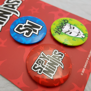 Spy Ninjas Button Badges - Set of 3