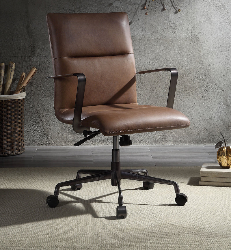 Indra Vintage Chocolate Top Grain Leather Office Chair image