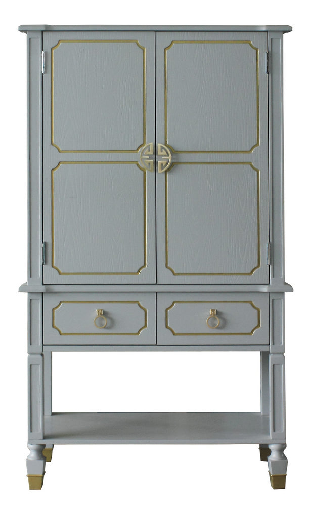 Acme Furniture House Marchese Cabinet in Pearl Gray 68865 image