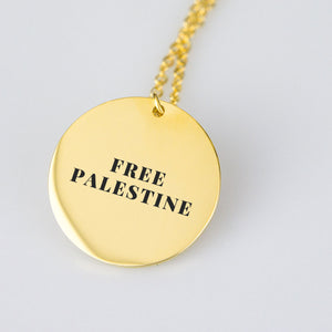 Free Palestine Gold Necklace