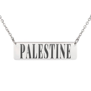 Palestine in my Heart Necklace (Silver/Gold)