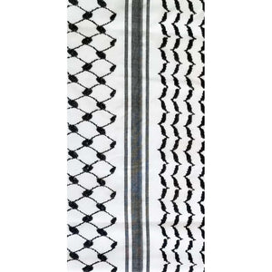 Exclusive Traditional Hirbawi Keffiyeh (Black/White)
