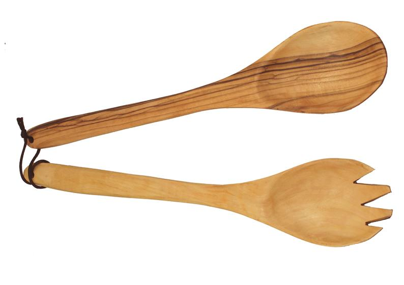 Hand made Olive Wood Spoon and Fork Set