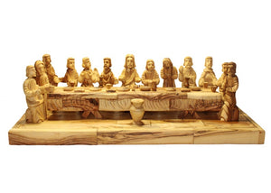 Hand Crafter Last Supper Olive Wood