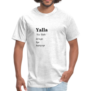 Yalla T-shirt - light heather gray