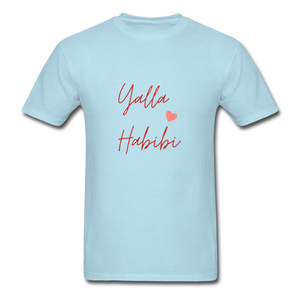 Yalla Habibi Classic T-Shirt - powder blue