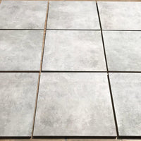 ash porcelain paving 600 x 600 slabs