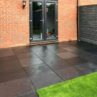 black limestone paving slabs 600 x 600