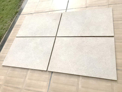 cream vitrified porcelain paving