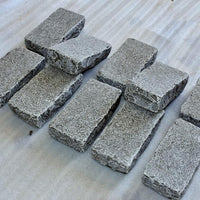grey limestone setts for driveway block paving
