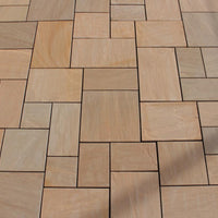 Indian sandstone paving autumn brown patio packs