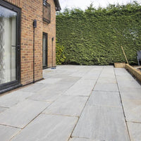 Indian sandstone paving kandla grey patio