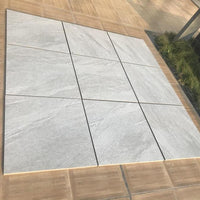 light grey porcelain paving slabs